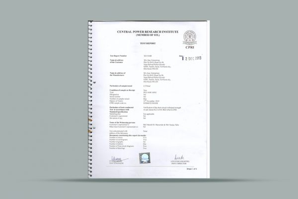 certificate .....